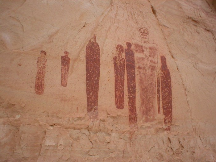 Pictographs in Barrier Canyon, Utah. Photo by Jenna Raino.