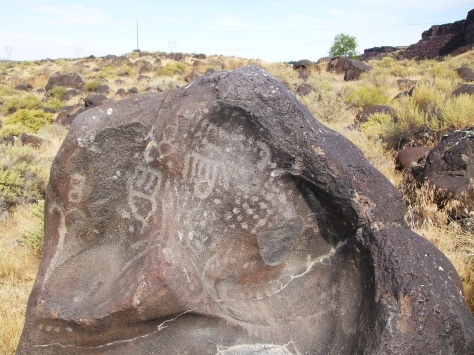 What do you think, are these petroglyphs young or old? Photo by Jenna Raino.