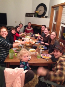 Members of Cohort 6 (and some of their families) celebrated Thanksgiving together this year!